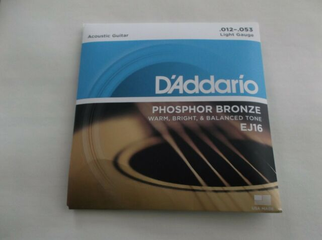 DAddario acoustic guitar stringsEJ16 12-.53