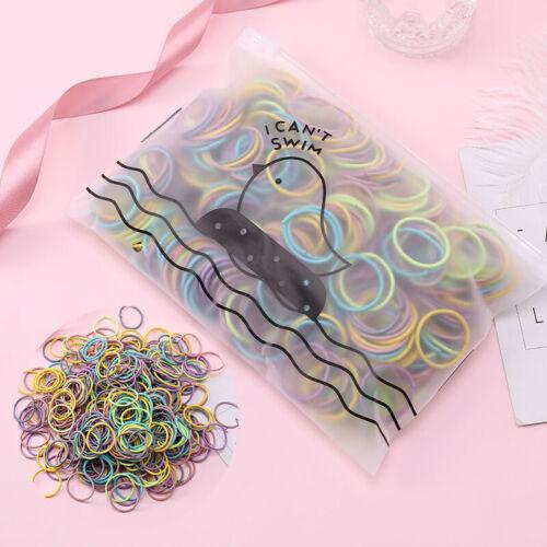 100pcs Women Girls Elastic Rubber Band Hair Rope Hair Tie Hair Ring Scrunchies