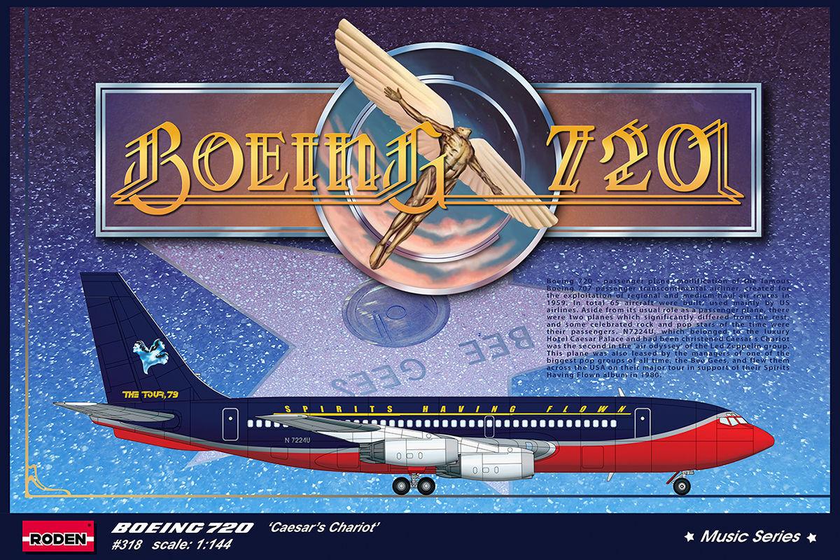 1 144 RODEN 318 Boeing 720 Caesar's Chariot