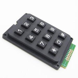 Universal 1x5 Matrix Array 5Key Matrix Membrane Switch Control Keypad 40x40mm