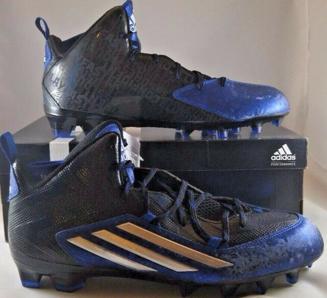 competitive price 03a41 73ff6 New Adidas Crazyquick 2.0 Mid Size 12.5 Football Cleats Black  Royal Blue  S83957