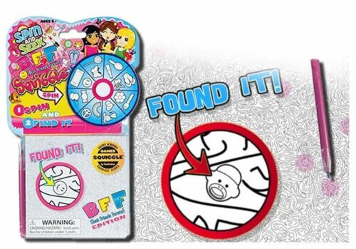Squiggle Spin and Seek Hidden Pictures Travel Game with Highlighter BFF Design