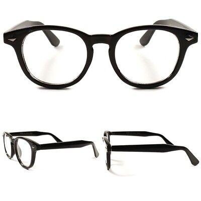 80s RETRO Transparent Crystal Men Women Nerd Geek Frame Clear Lens Eye Glasses