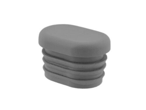 Fussstopfen 30 x 20 mm grau flach Ovalrohr Rohrstopfen Fusskappe Alustuhl Stuhl
