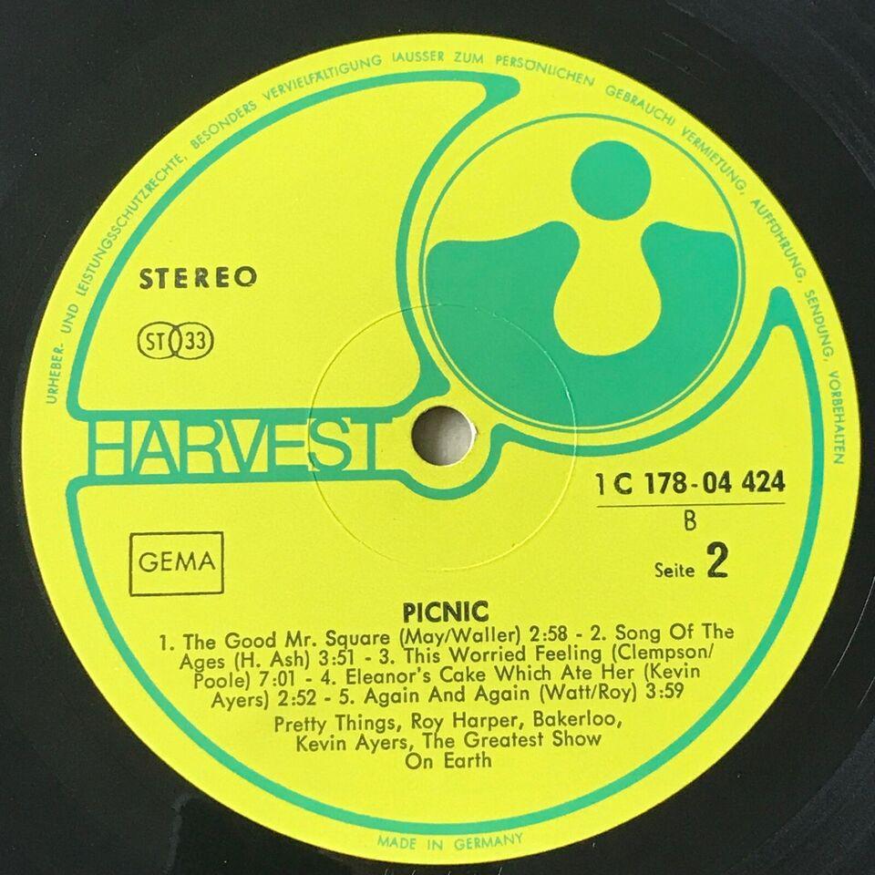LP, Forskellige Harvest-kunstnere, PICNIC a breath of
