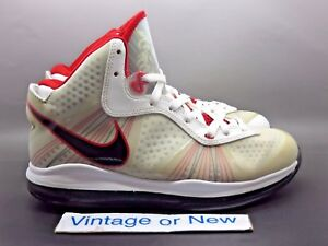 4541bfd0ec4d Nike LeBron VIII 8 V 2 White Black Sport Red sz 8.5