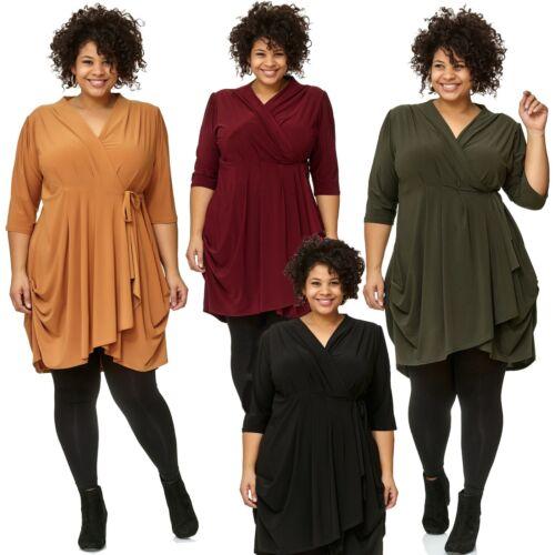 44 54 ausschnitt Kleid Magna 50 52 A V 56 Damen Tunika Lagenlook linie 42 46 48 zqwHf1