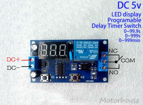 Digital LED Programmable Delay Turn On Switch Timer Relay Module Board Car