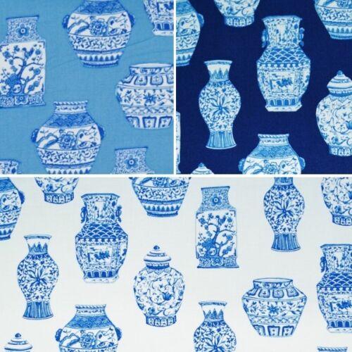 Clothworks Oriental Décoration vases peints Imprimé 100/% Coton Patchwork Tissu