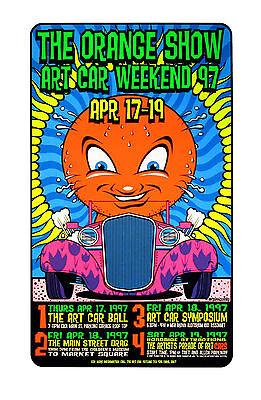 The Orange Show 1997 Houston Tx Original Silkscreen Poster Uncle Charlie Art Car