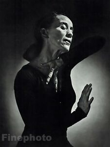 1948-Vintage-MARTHA-GRAHAM-Dance-Theatre-Choreographer-Art-16x20-By-YOUSUF-KARSH