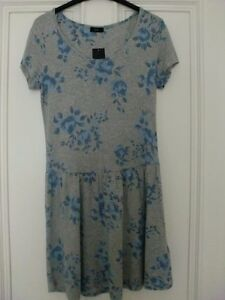 F-amp-F-Ladies-Grey-Blue-Dress-10-New