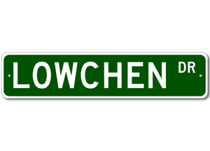 LOWCHEN Street Sign High Quality Aluminum Dog Breed Sign