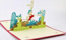SUPER MARIO NINTENDO GAMER 3D POP UP GREETING BIRTHDAY CARD. INVITATION