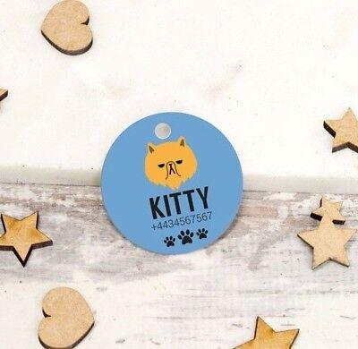Abile Personalised Pet Tags Incise Gatto Id Collare Per Cane 25mm Paw Print Su Misura- Senza Ritorno
