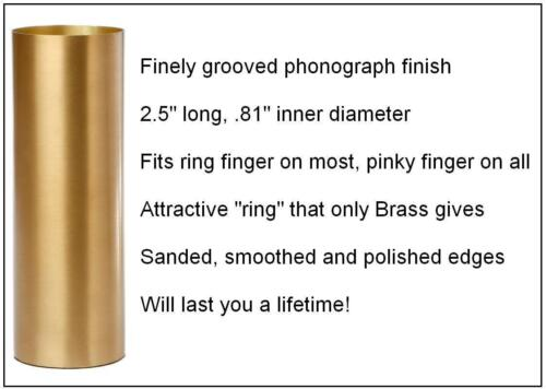 AxeMasters BRASS GUITAR SLIDE Tuneful Phonographed Surface Finish