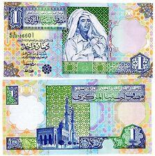 Libye Libya Billet BILLET 1 Dinar ( 2002 ) P64  KADDAFI SERIE 5 NEUF UNC