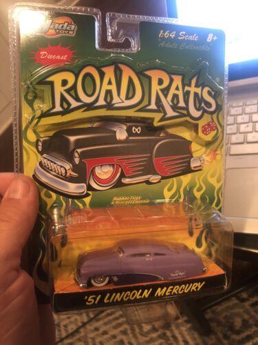 Jada Toys ROAD RATS 1951 Lincoln Mercury 1:64 Diecast NEW 2003 Purple  Reign