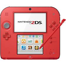 Nintendo 2DS (Crimson Red 2) - FACTORY REFURBISHED BY NINTENDO