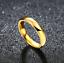 Coppia-Fedine-4mm-Acciaio-Color-Oro-semplici-con-incisione-fidanzamento miniatura 2
