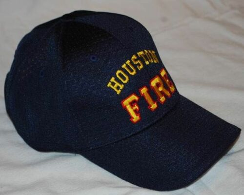 Houston Fire Dept Adustable Ball Cap Gold//Red Free Shipping!!!