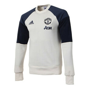 Details about Adidas Manchester United Sweat Longsleeve Top S95551 Football Training Gym Tee