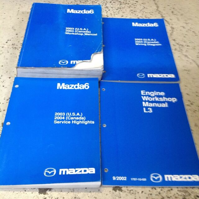 2003 2004 Mazda6 Service Repair Shop Workshop Manual Set Factory Oem W Ewd