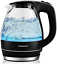 Details about  /Electric Hot Water Portable Glass Kettle with Filter 1.5 Liter Stainless Steel