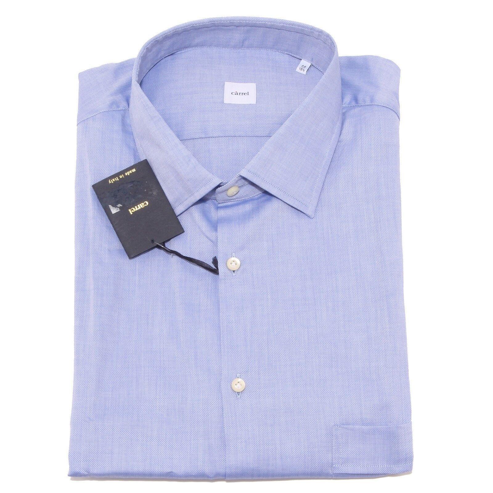 0049P camicia uomo CARREL azzurra manica corta shirt Uomo sleeveless