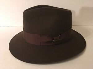 Indiana Jones Fedora Hat Brown Wool Felt Size M Village Hat Shop  2a5e894af55