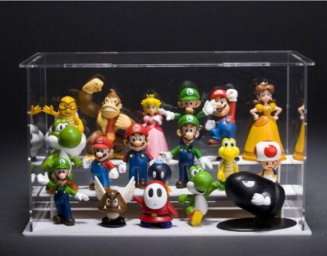 Set of 3 Pcs Super Mario Bros Luigi Mario Yoshi Action Figures Toy 4.7
