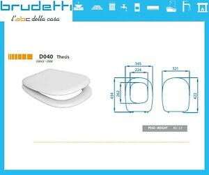 Sedile Wc Tesi Ideal Standard.Sedile Wc Compatibile Ideal Standard Tesi Copriwater Plastica