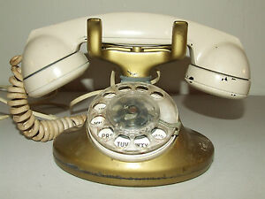Vintage Metal Art Deco Bell System Western Electric Rotary Dial Telephone Phone