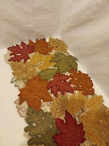 Autumn-Fall-Thanksgiving-54-034-Leaf-Medley-Cutwork-Table-Runner