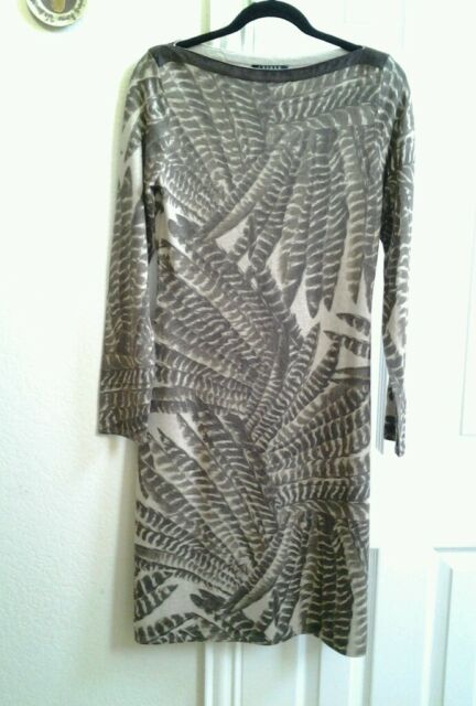 NWT Ralph Laure Women's Silk Cashmere Blend Dress Brown Tan