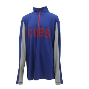 competitive price 8b0eb d0bbf Details about Chicago Cubs Official MLB Genuine Kids Youth Size Warm Up  Quarter Zip New Tags