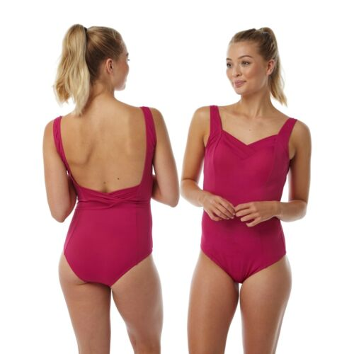 Ladies Pink Swimming Costume Bathing Swimsuit One Piece Size 16 18 20 22 24