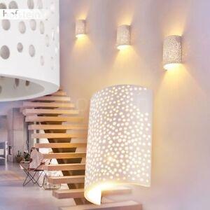Wand Lampen Retro Flur Dielen Leuchte Wohn Schlaf Zimmer Licht Effekt Glas weiss
