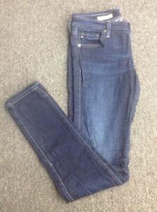 AG-JEANS-The-Legging-Blue-Stretch-Cotton-Super-Skinny-5-Pocket-Jean-Sz-27-GG4395