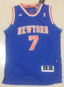 brand new b2c48 e007b Details about New York Knicks Carmelo Anthony blue jersey size S M L XL XXL