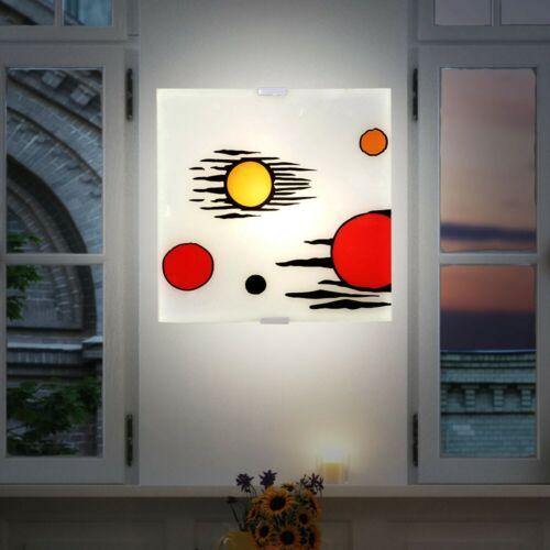 Design Decken Beleuchtung Glas satiniert Wohn Ess Zimmer Leuchte Wand Lampe E14