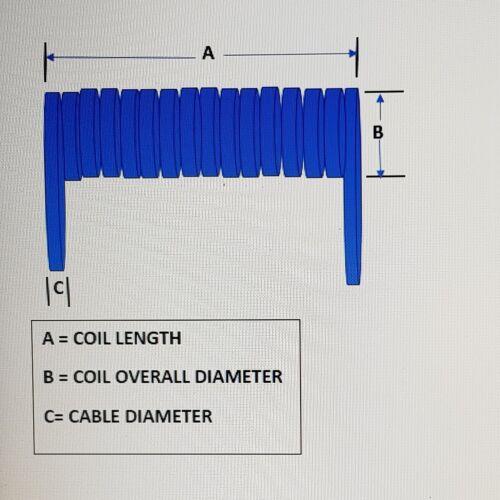 2 núcleos 2.5 SQMM Cable en espiral LSZH 250mm longitud en espiral