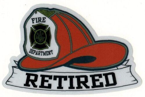 Reflective fireman Sticker Retired red
