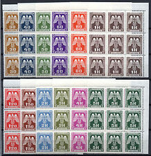 GERMANY Nazi BOHEMIA MORAVIA Stamps 1943 Official Swastika / Eagle BLOCKS of 9