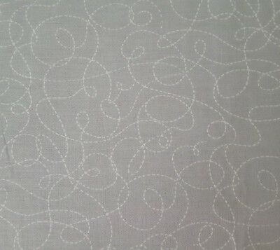 Little Buggers BTY Ink /& Arrow Bugs Dotted Dashed Scroll White on Gray