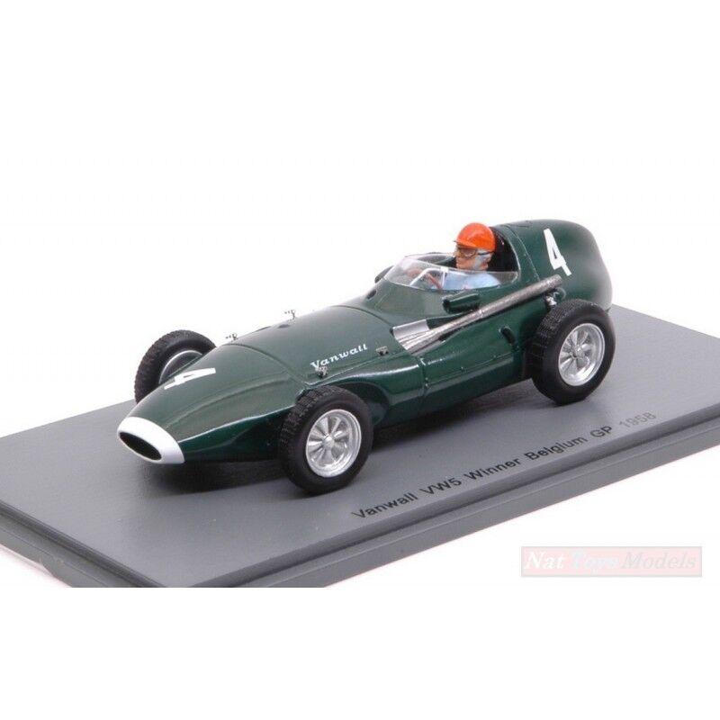 SPARK MODEL S4872 VANWALL VW5 T.BROOKS 1958 N.4 WINNER BELGIUM GP 1:43 DIE CAST