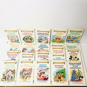 Set-of-21-DISNEY-Rhyming-Reader-Hardcover-Books-1988-Groilier