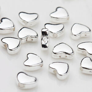 30Pcs-Tibetan-Silver-Heart-Spacer-Loose-Beads-For-Jewelry-Making-Craft-5x6MM-DIY