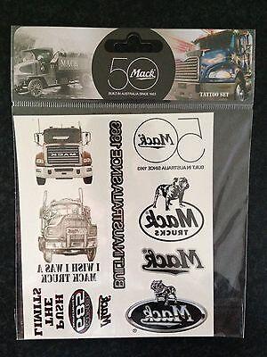 New Genuine Mack Merchandise Mack Photo /& Logo Mixed Temporary Tattoo Set of 8