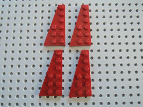 LEGO 4 x Flügelplatte 54384 links  dunkelrot    6x3